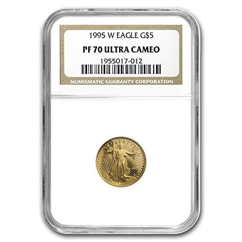 1995 W 1 10 Oz Proof Gold American Eagle Pf 70 Ngc Gold Pf70 Ngc Coin Highlights Contains 1 10 Oz Actual Gold Weight Gold American Eagle Eagle Design Ngc
