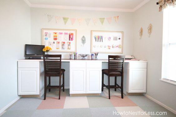 craft room desk/wall #craft
