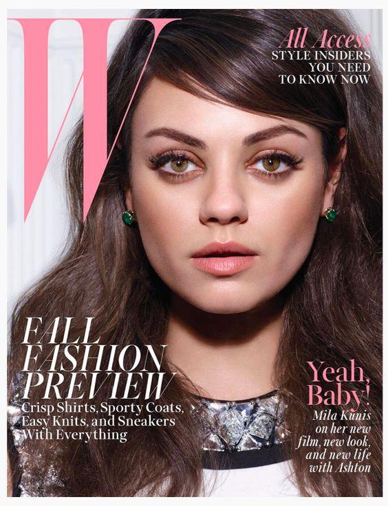 Mila Kunis embarazada es la portada de Agosto 2014 de W Magazine.