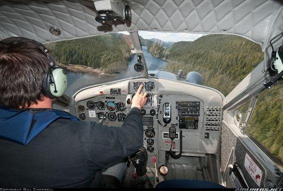 De havilland beaver cockpit c frjg s n 1550 probably over or near vancouver - Cockpit avion a vendre ...