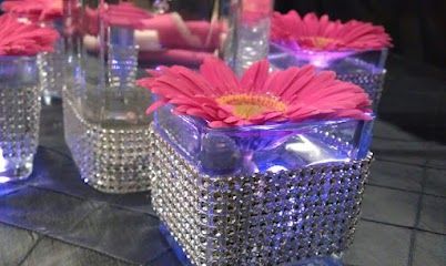 """""""Blinged Out"""" Votive Holders by Alpha Prosperity Events."""