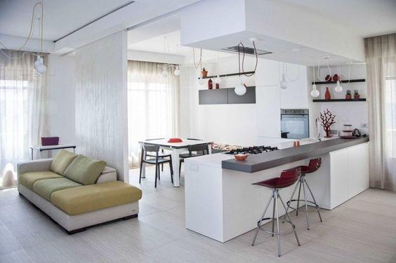 cuisine ouverte sur salon : une solution pour tous les espaces - Cuisine Ouverte Sur Salle A Manger Et Salon