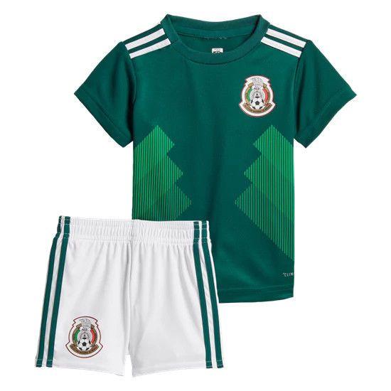 Mexico World Cup 2018 Children S Kids Soccer Futbol Kit Uniform Jersey Adidas Adidas Mexico Soccer Shirt Sports Uniform Design Kids Soccer