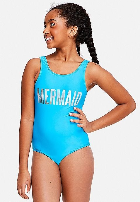 Mermaid One Piece Justice Girls Swimsuits Kids Swimwear Girls Kids Bathing Suits