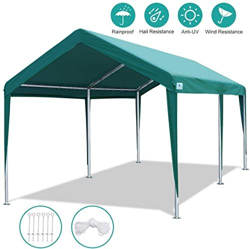 Amazing Offer On Advance Outdoor 10 X 20 Ft Heavy Duty Carport Canopy Car Tent Adjustable Height 6 5ft 8 0ft Portable Garage Metal Carport Car Shed Shelter G In 2020 Car Shed Car