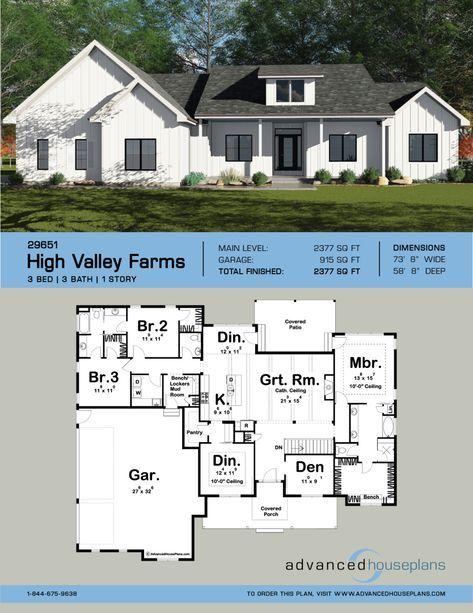 20+ 1 story farmhouse floor plans ideas