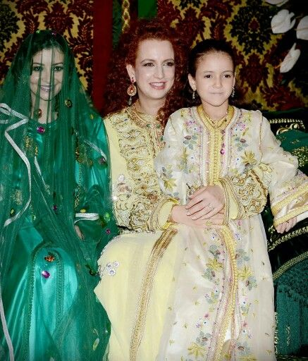 princesses lalla salma et lalla khadija sa fille au mariage du prince moulay rachid frre du - Mariage Lalla Soukaina