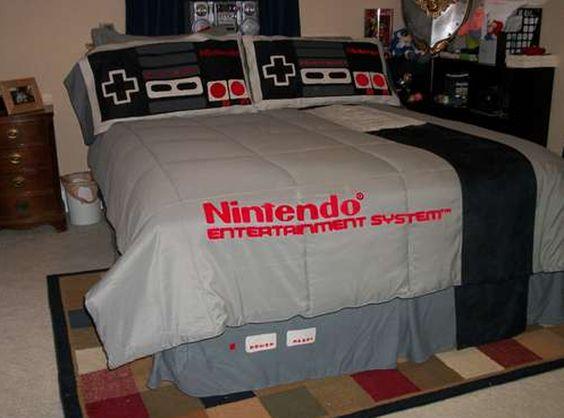 Nintendo bed.
