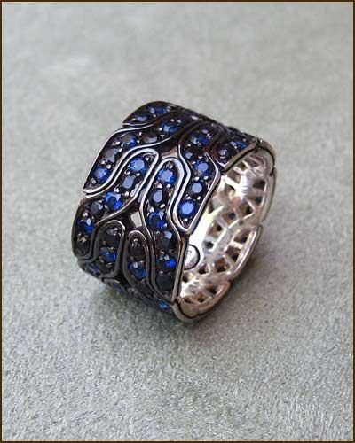 John Hardy Naga Blue Sapphire Band greatly discounted at Liquidation Sale at Earthworks Jewelry