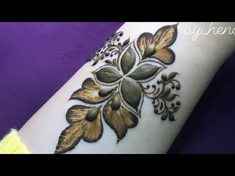 نقش حناء جديد2021 Youtube In 2021 Henna Designs Henna Flower Tattoo