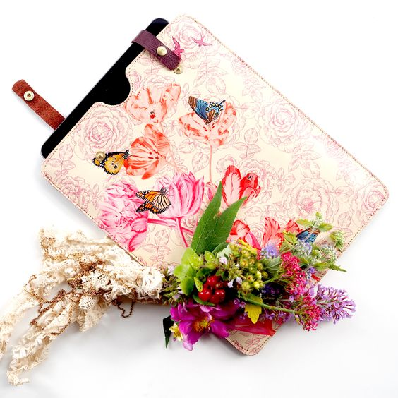 iPad & tablet cases made of pure leather that could win Chelsea Flower Show:  #floral #iPad #tech