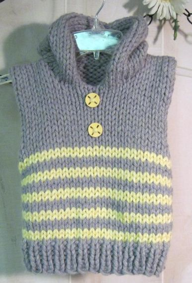 Vest Knitting Pattern Free Easy : Free knitting patterns featuring baby cocoon pattern