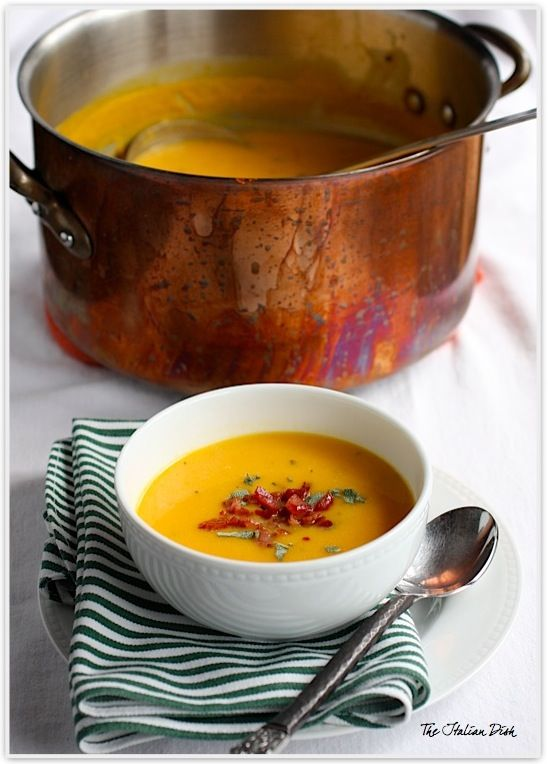 Butternut Squash Soup with Pancetta - perfect way to kick off the fall!