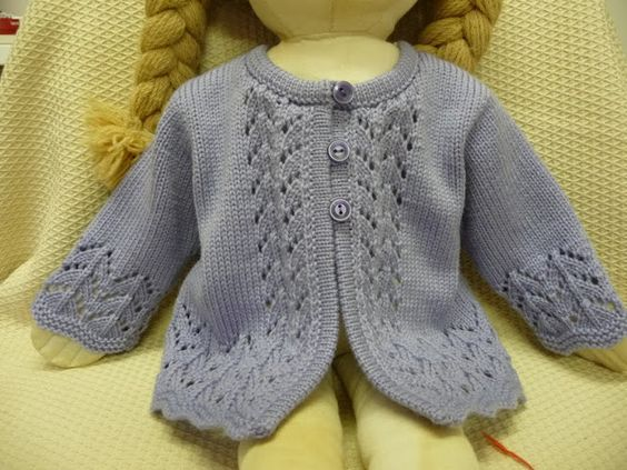 Free Knitting Patterns For Hooded Scarves : Machine knit baby sweater seen on Ravelry. Love the lace placement and hem ...