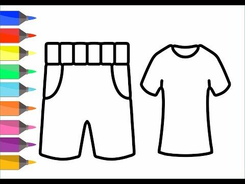 Coloring 7 Fashion Elements Draw For Kids And Painting For Toddlers Coloring Video For Children Youtube