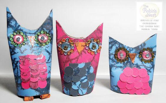 Faerie * Dust * Dreams: Paper Tube Owls