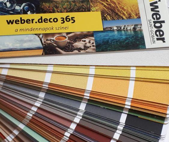weber.deco 365 gyönyörű színben
