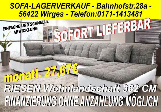U Big Sofa COuch Wohnlandschaft megasofa ottomane LI FINANZIERUNG - big sofa oder wohnlandschaft