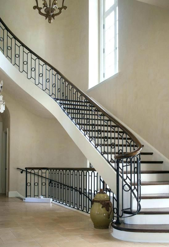 Metal Stair Handrail Iron Stair Handrail Curved Stairs Wrought