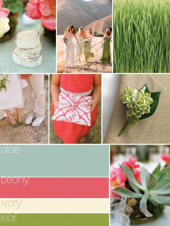 Perfect colors for a wedding motiff