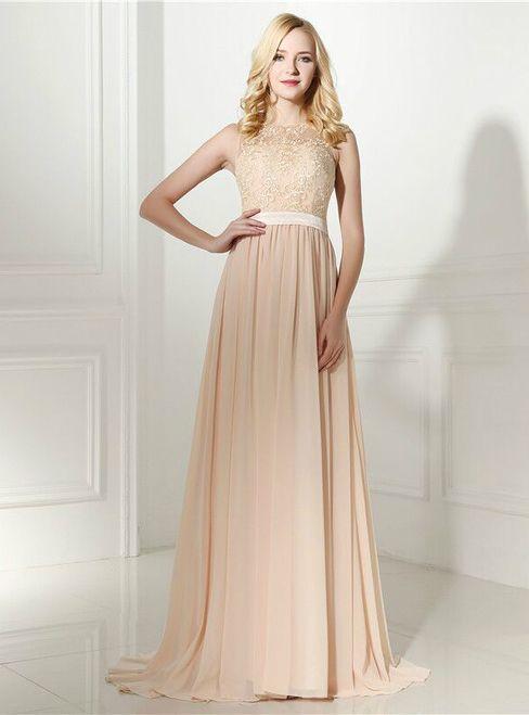 Floor Length Sleeveless Prom Dress