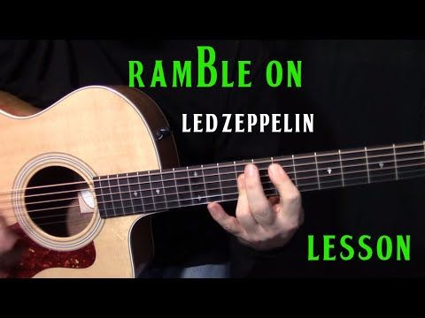 How To Play Ramble On By Led Zeppelin Acoustic Guitar Lesson
