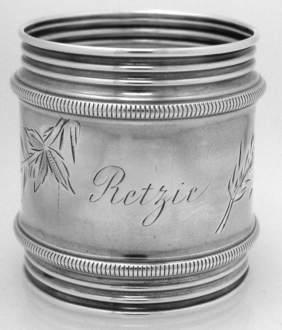 American Coin Silver Napkin Ring 1880