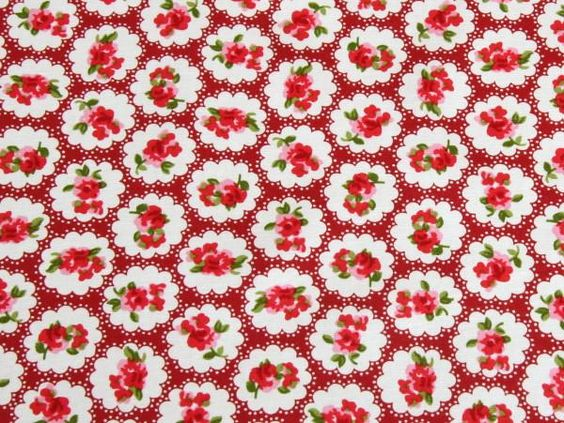 Floral Cotton Poplin - Daphne Red | buy in-store and online from Ray Stitch