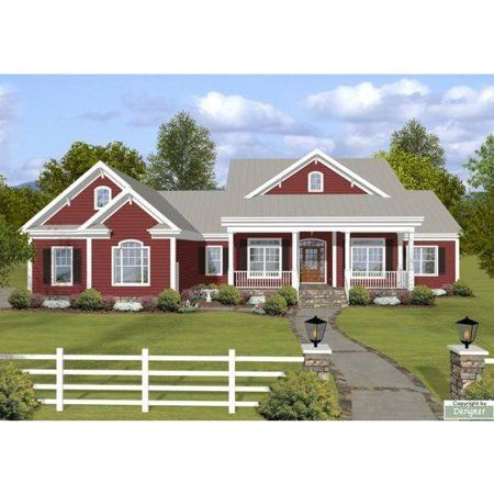 The House Designers Thd 4208 Builder Ready Blueprints To Build A Ranch House Plan With Crawl Space Foundation 5 Printed Sets Walmart Com In 2021 Ranch Style House Plans Ranch House Plans Country