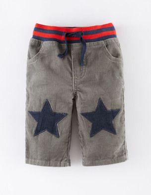 Star Patch Cord Pants 72132 Pants at Boden