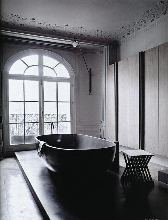10 Moderne schwarze Badewannen #Badezimmer #Wohnen #Wellness