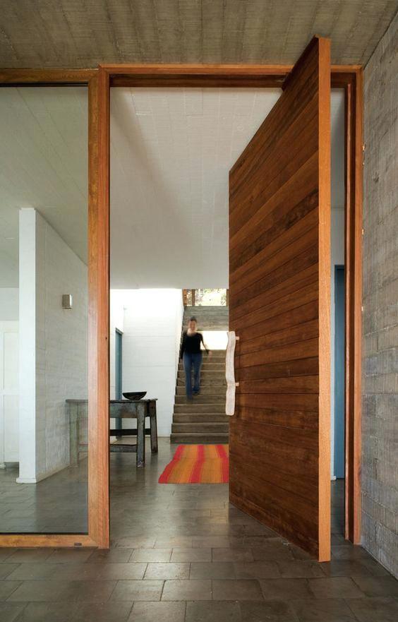 Extra Wide Front Door Surprise Doors Rustic Wood Large Pivot Home