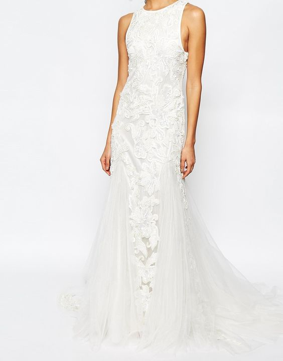 Image 3 ofA Star Is Born Bridal Luxe Tulle Maxi Dress