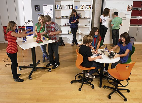 Collaborative Classroom ~ Ergonomics for children classroom design inspirations