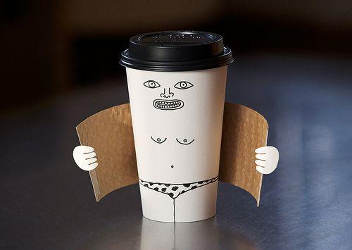 Cute: Coffee Flasher, Giggle, Brock Davis, Exhibitionist Coffee, Coffee Cups, Funny Stuff, Coffee Shop