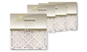 Groupon - Enviroflow Pollen and Dust Control Air Filters (4-Pack). Groupon deal price: $14.99