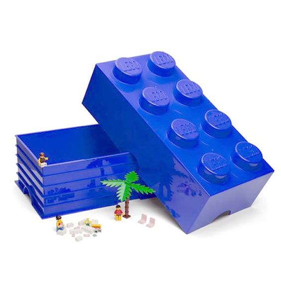 Great Big Blue Lego Storage Brick : Giant Blue Lego Storage Brick