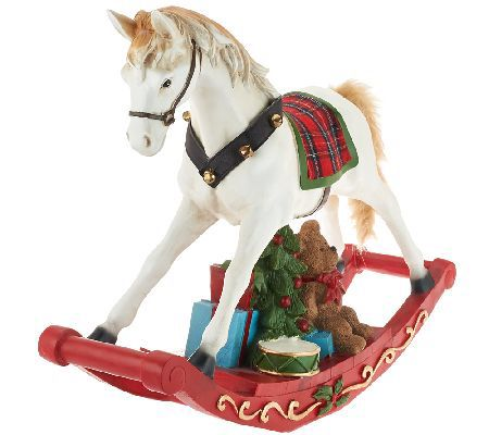 "22-1/4"" Holiday Decorative Rocking Horse by Valerie"