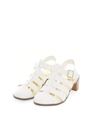 Gold Suedette Diamante Floral Embellished Sandals | Shops