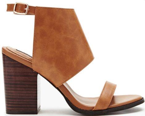 Sandales ouverte cognac, Forever21