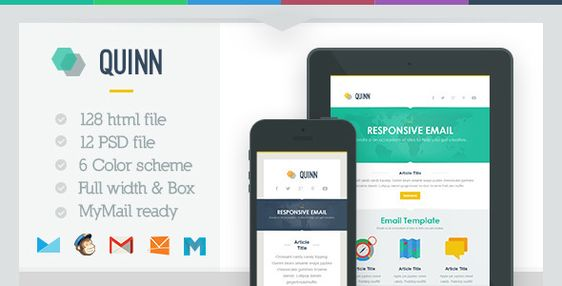180 Absolute Best Responsive Email Templates - Gabriel - responsive email template