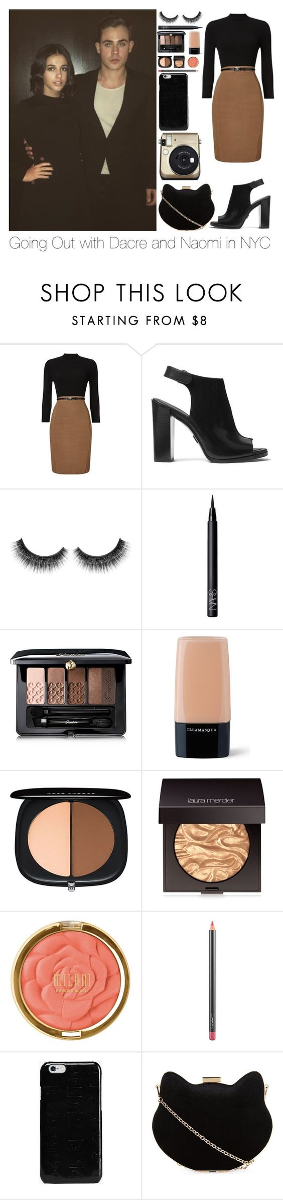 """""""Going Out with Dacre and Naomi in NYC"""" by forever-a-kaitlyn ❤ liked on Polyvore featuring Phase Eight, Michael Kors, NARS Cosmetics, Guerlain, Illamasqua, Marc Jacobs, Laura Mercier, Milani, MAC Cosmetics and Maison Margiela"""
