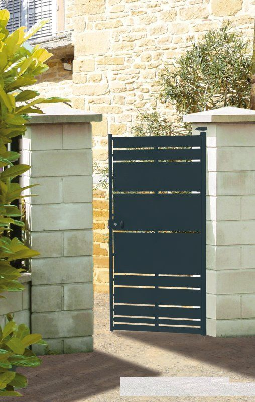 Portail portillon cl ture acier himalia roy for Portail portillon cloture