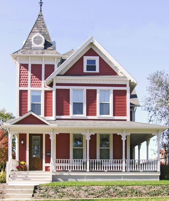 20 Exterior Entryway Designs With Charming Curb Appeal In 2020 Victorian Homes Exterior Porch Remodel Front Porch Remodel