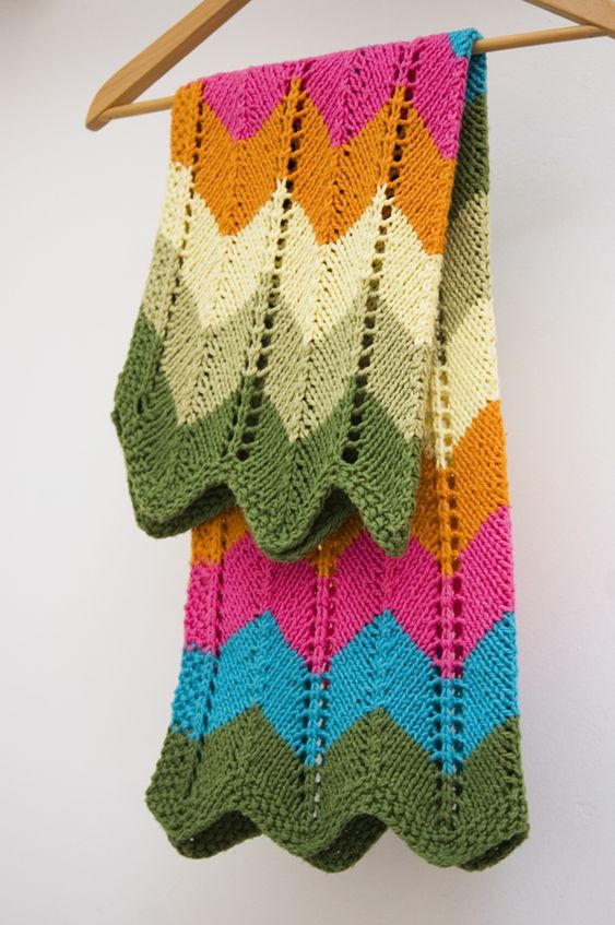Zig Zag Baby Blanket By Knit Culture Studio - Free Knitted Pattern - Scroll D...