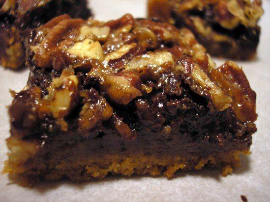 Chocolate Pecan Pie with bourbon Bars