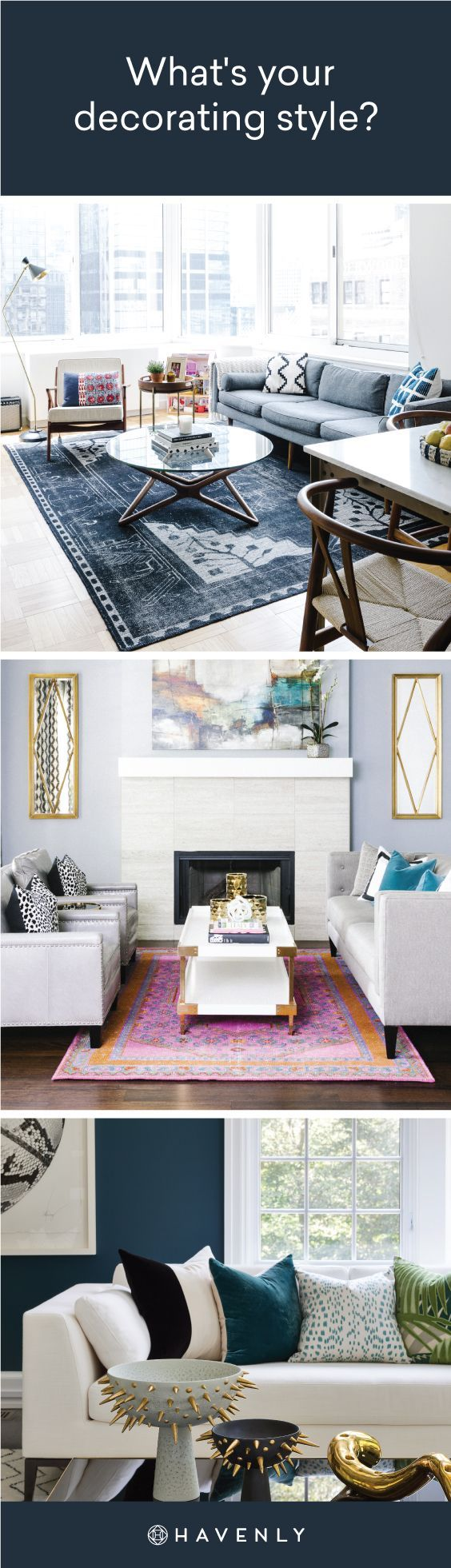Want To Know Your Unique Decorating Style Take Havenly S Interior Design Decorating Quiz To Find Your Design Styl Home Decor Apartment Decor House Interior