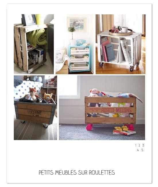 l atelier du mercredi avec des caisses et des cageots deco pinterest bricolage. Black Bedroom Furniture Sets. Home Design Ideas