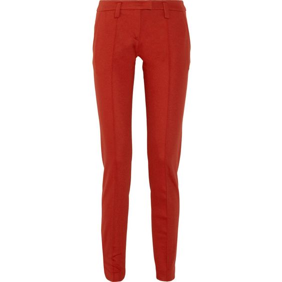 Sonia by Sonia Rykiel Stretch-jersey straight-leg pants ($183) ❤ liked on Polyvore