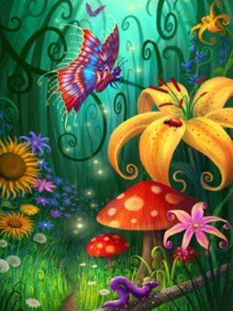 enchanted mushroom wallpaper - photo #23